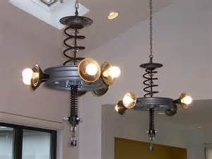 Car Parts Light Fixtures Upcycled Home Decor Home Lighting Decor