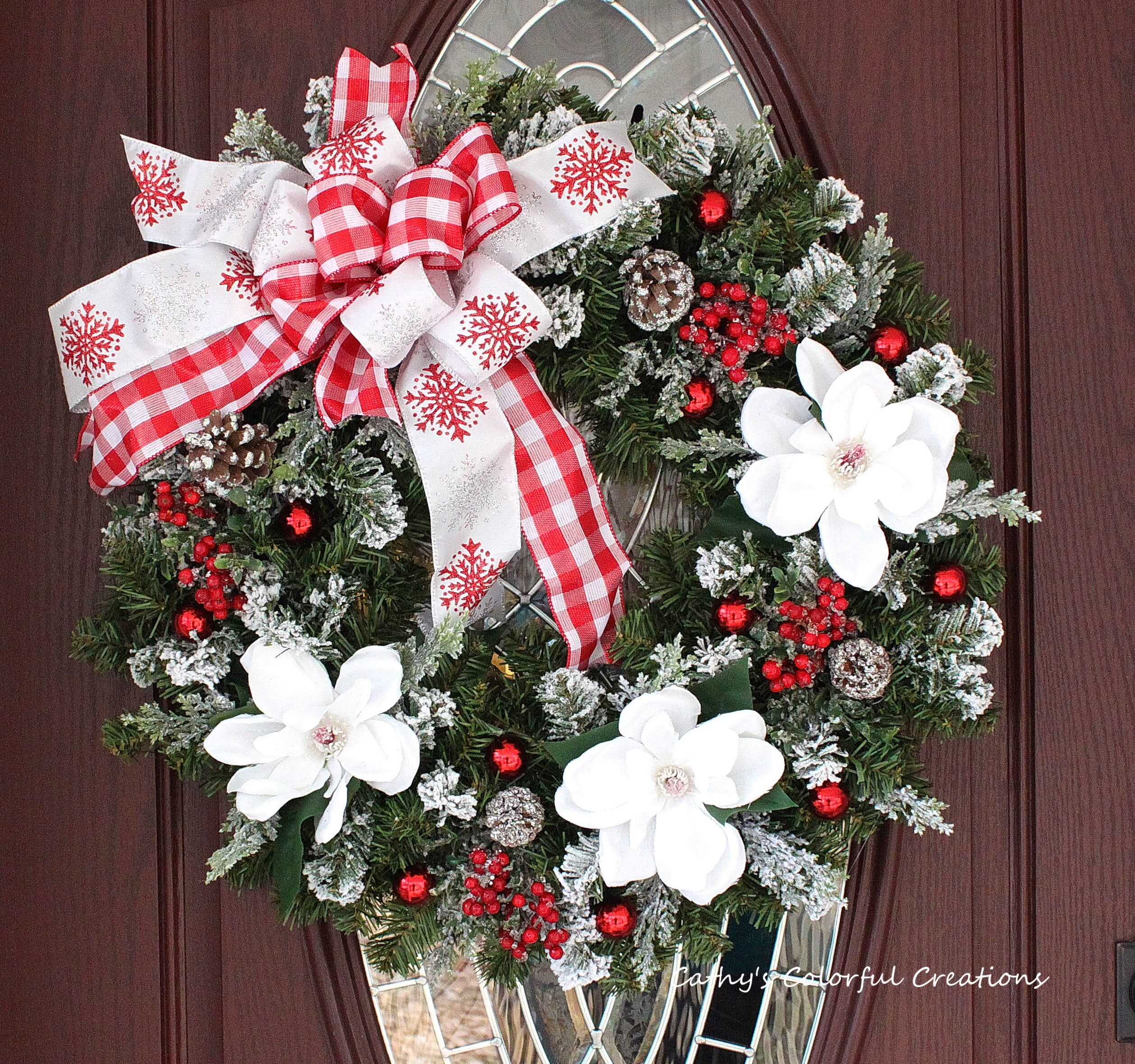 Christmas Wreath, Christmas Decor, Christmas Door Decor, Door Wreath, Front Door Wreath, Holiday Wreath, Fireplace Wreath, Magnolia Wreath