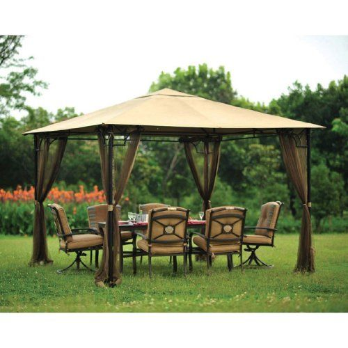 Amazon Com Living Accents Mosquito Netting 10 X 10 Brown Patio Lawn Garden Backyard Gazebo Outdoor Gazebos Gazebo Pergola