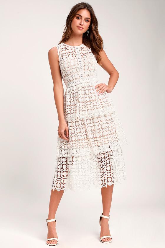 49++ White lace crochet dress info