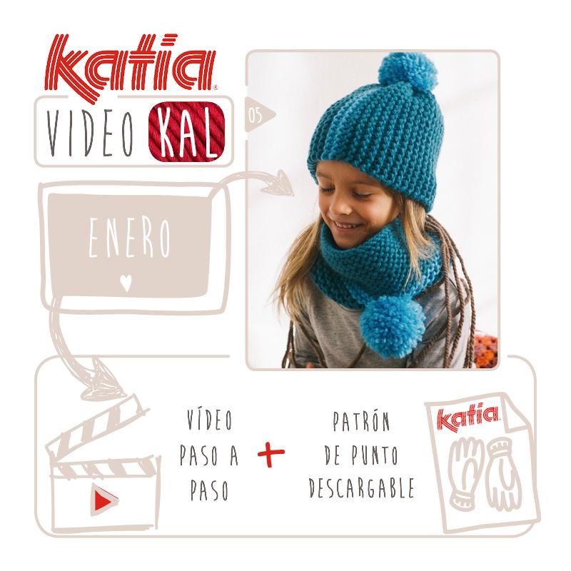 Katia VideoKAL enero: gorro y cuello Big Merino para niños | Crochet ...