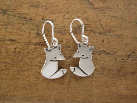 fbddc34c09518 Little Wild Fox Earrings - Sterling Silver Fox Earrings in 2019 ...