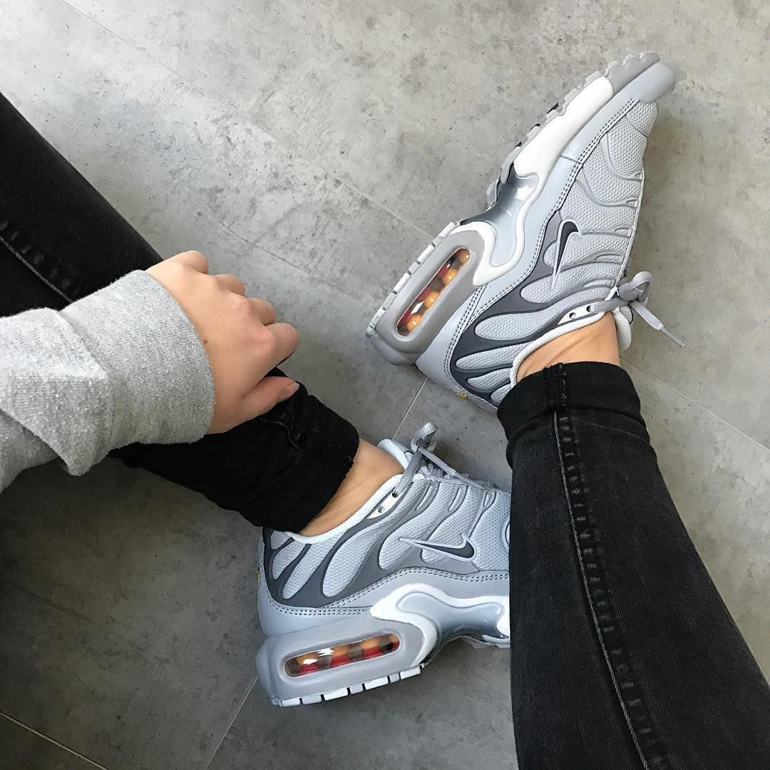 nike air max plus grey suede over the knee