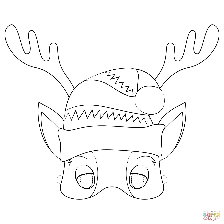 Reindeer Mask Coloring Page Free Printable Coloring Pages Coloring Pages Free Printable Coloring Pages Free Printable Coloring