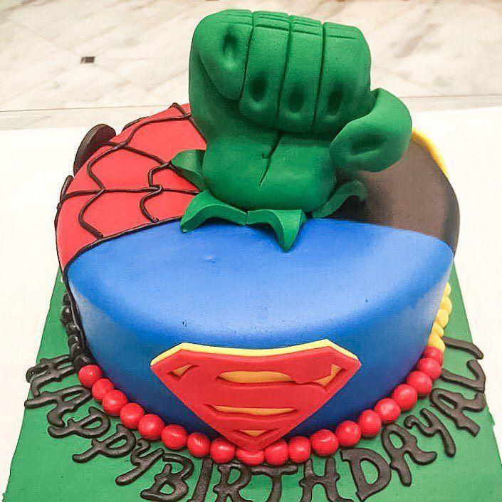 Happy Birthday Ali 5 Super Heroes In One Cake Call 01111127736