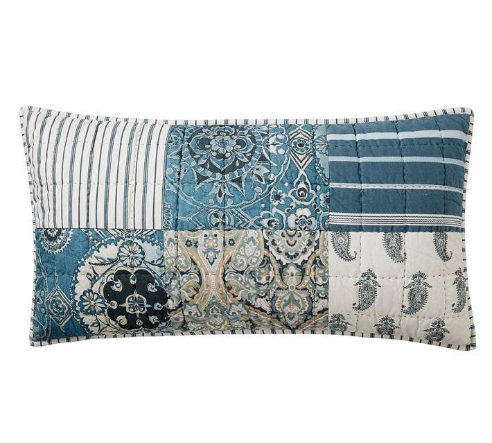 Mackenna Patchwork Cotton Quilt Shams In 2021 Quilted Pillow Covers Quilts Quilted Pillow Shams King size quilted pillow shams