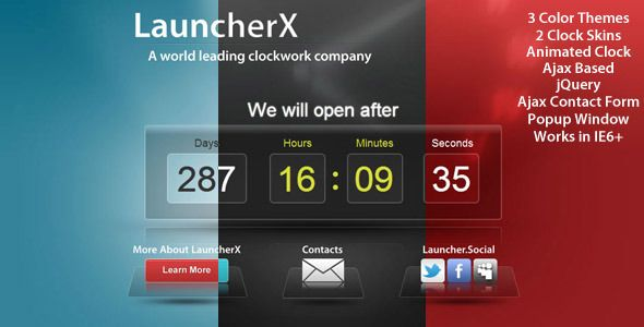 LauncherX - Countdown Template - Under Construction Specialty - scoreboard template