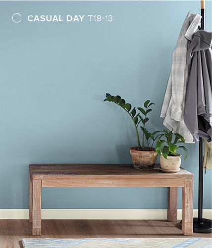 Behr Color Trends 2018 Color Sample T18 13 Casual Day Bedroom Blues Paint Pinterest Behr