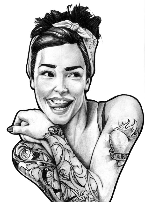 pin up girl tattoo designs madscar tattoos pinterest behance illustrations and drawings. Black Bedroom Furniture Sets. Home Design Ideas