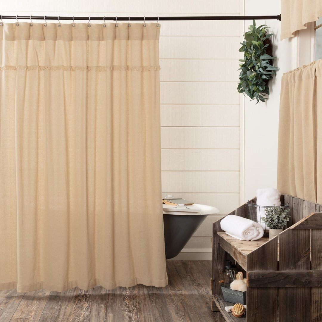 Burlap Vintage Shower Curtain In 2020