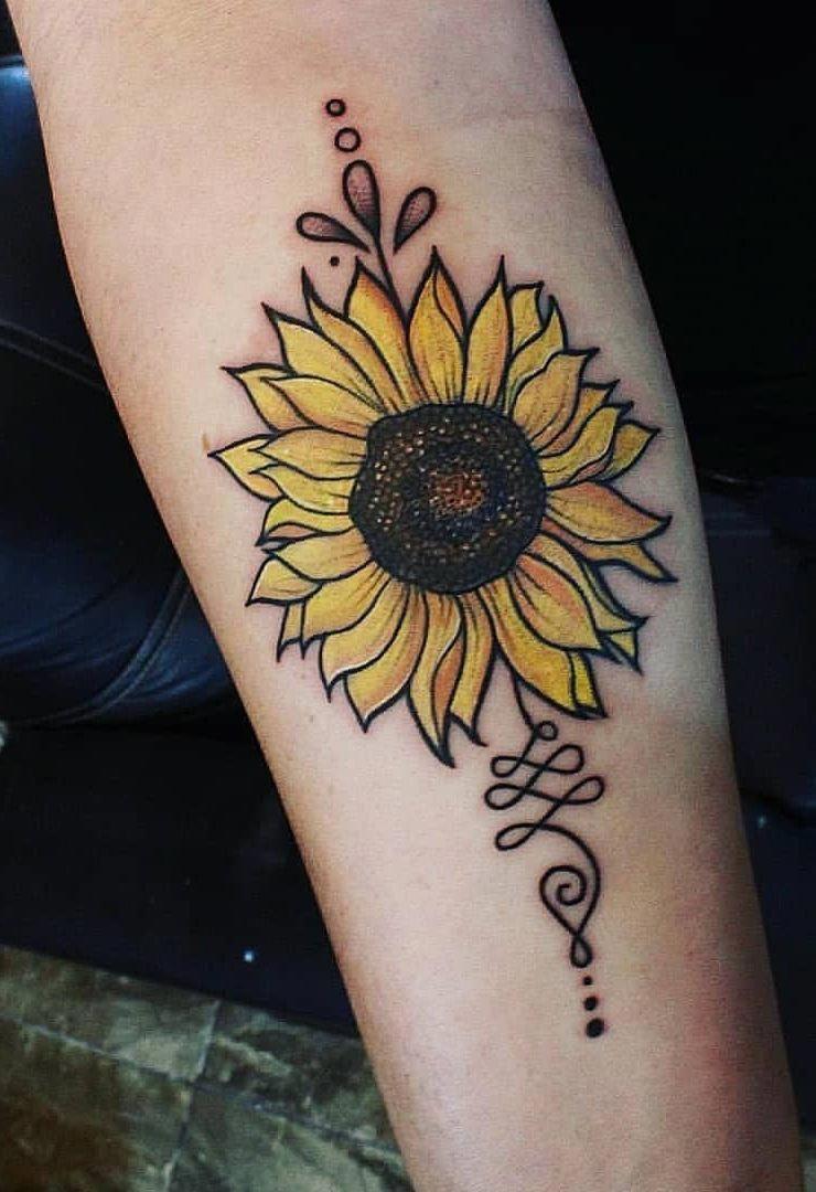 Tatuaggi Fiori Bianchi.Colorful Sunflower Tattoo Tattoos Tatuaggi Tatuaggi