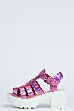 d70e0f13056 Frankie Block Heel Jelly Sandal at boohoo.com