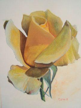 Rose Jaune Peinture Artistique Les Oeuvres Fleurs