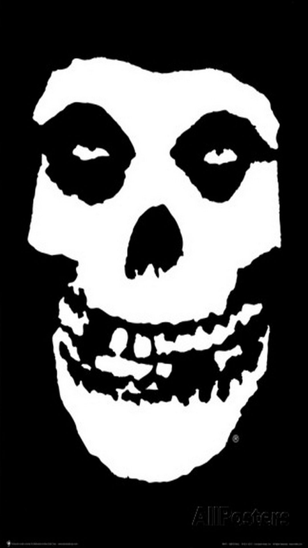 Tap And Get The Free App Hard Skull Black Misfits Punk Rock