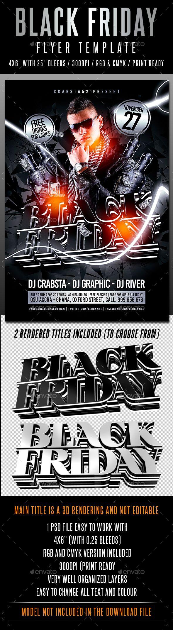 black friday flyer template photoshop psd nightclub all black