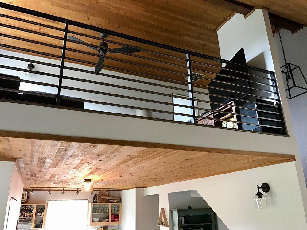Industrial Modern Balcony Rail | Modern balcony, Balcony ...