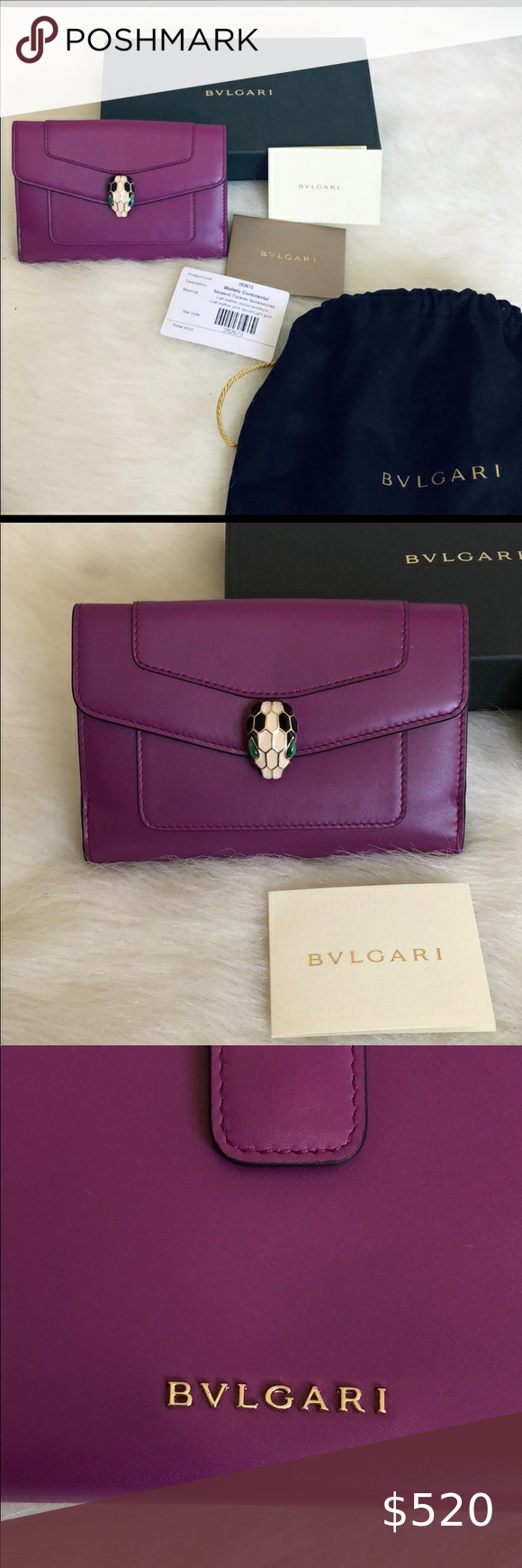 2 X Hp Bvlgari Serpenti Compact Wallet Orchid In 2020 Clothes Design Bvlgari Serpenti Compact Wallets