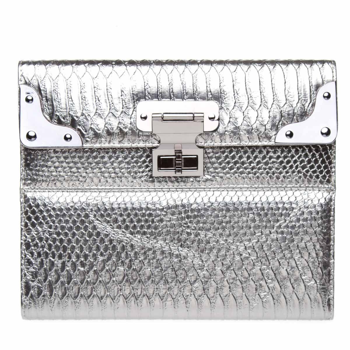 Silver metallic iPad Case