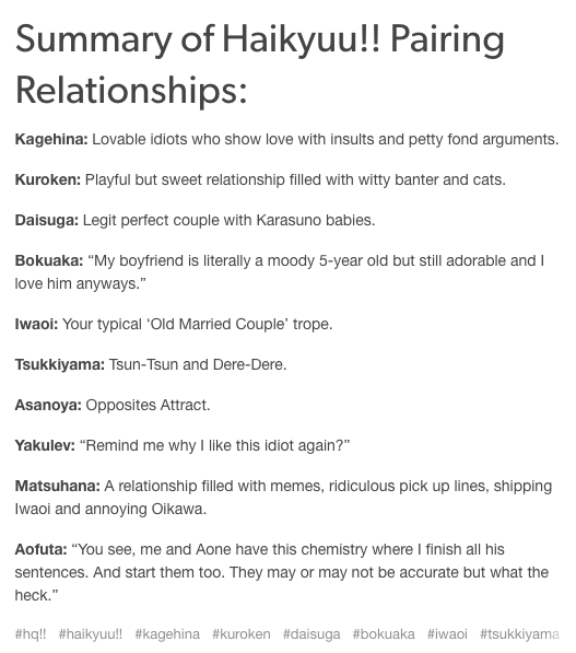 Haikyu Funny Ships Pairings Don T Agree With Most Bc Low Key Believe Everything Is Platonic But Still Funny Haikyuu Haikyuu Funny Haikyuu Anime
