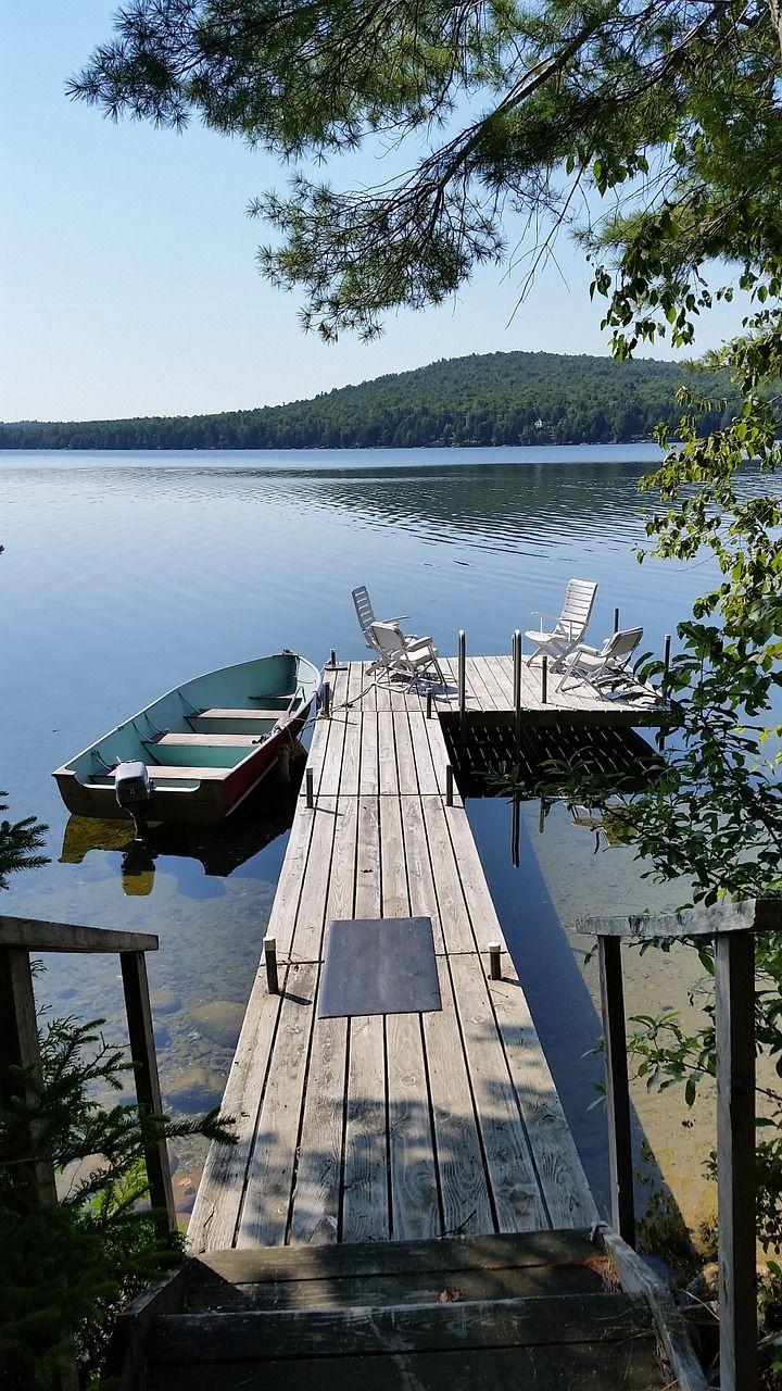 Boat lake dock boat scenic vacation boat lake
