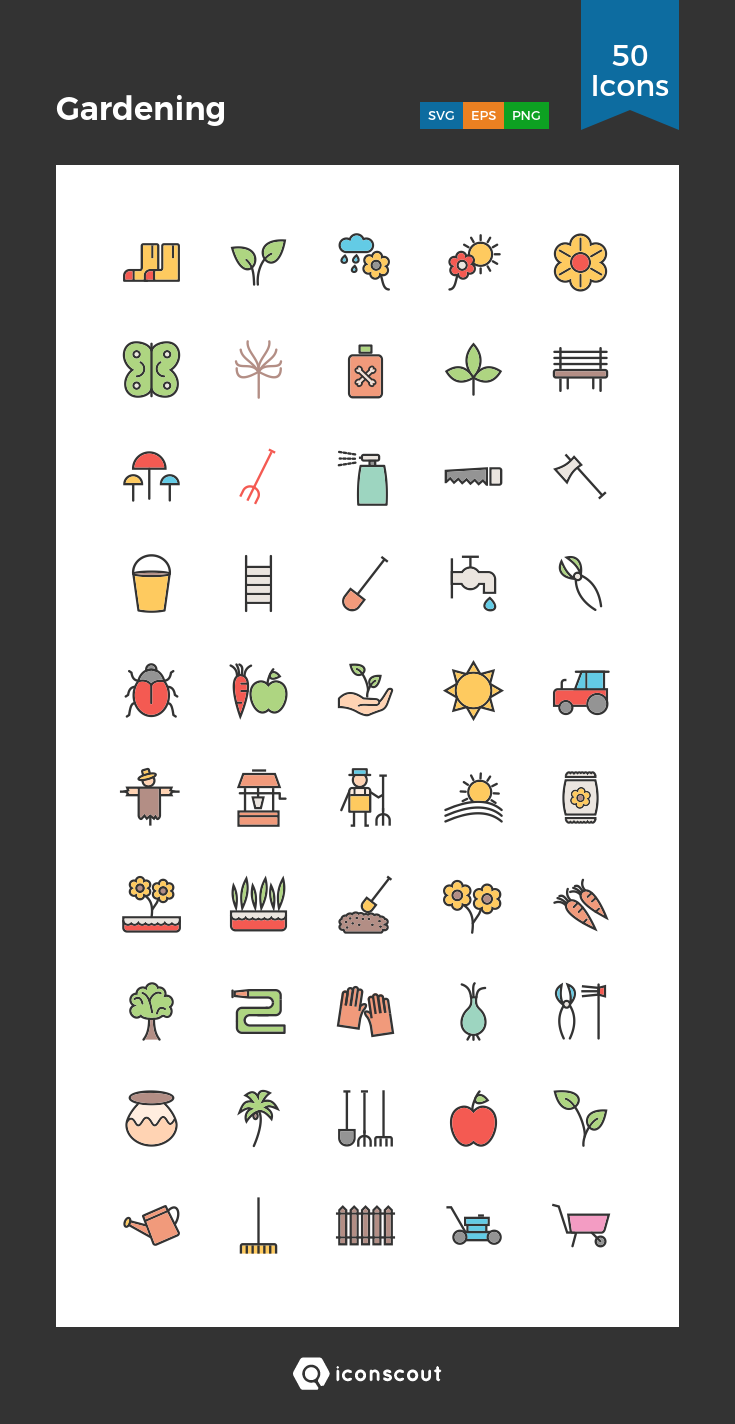 Download Gardening Icon pack Available in SVG, PNG, EPS