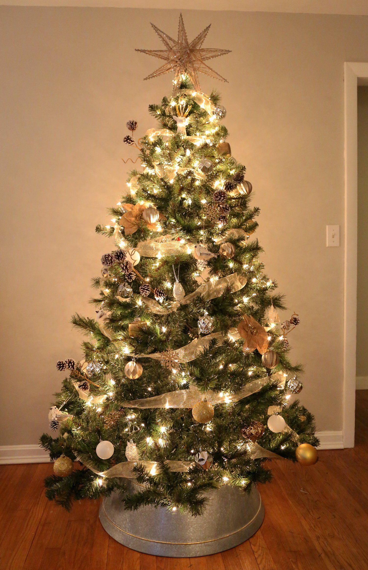 Mixed Metals Farmhouse Christmas Tree Metal christmas