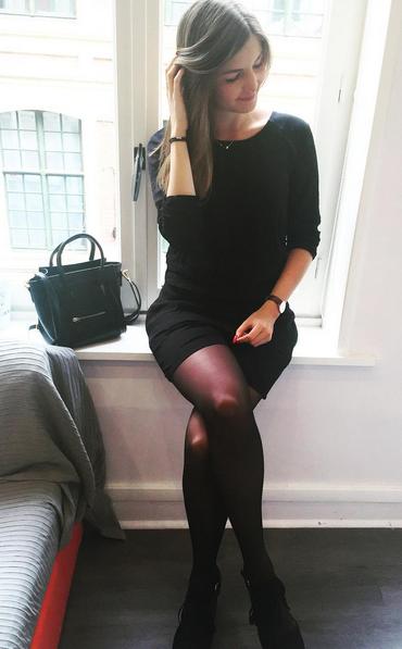 Casual Black Siamese Dress, little black dress! Looks so hot! #LBD #casual #everpretty