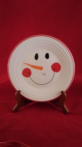 Fiesta Tamarack Snowman Luncheon Plate Fiestaware pf.53 in Pottery & Glass, Pottery & China, China & Dinnerware, Fiesta: Contemporary   eBay