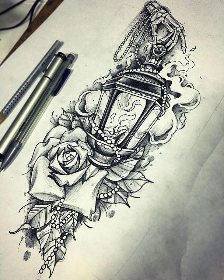 #tattoos  #tattoo  #tattooed  #tattooing  #tattoowork  #ink  #inked  #sketch  #sketching  #lamp  #rose  #fire  #drawing  #draw… #рукава  Продолжение рукава