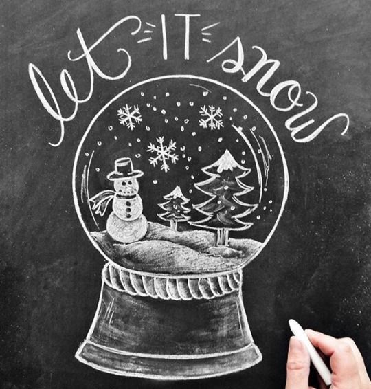 delta breezes with images  christmas chalkboard art