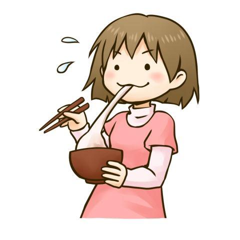 餅を食べる女の子のイラスト 餅 イラスト イラスト 女の子イラスト