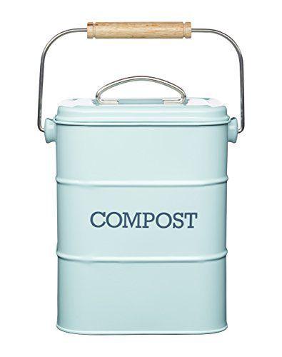Kitchen Craft Living Nostalgia Komposteimer, 3 Liter, Edelstahl ...