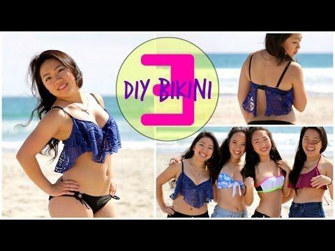 DIY Bikini Tops ♡ Part 3 - YouTube