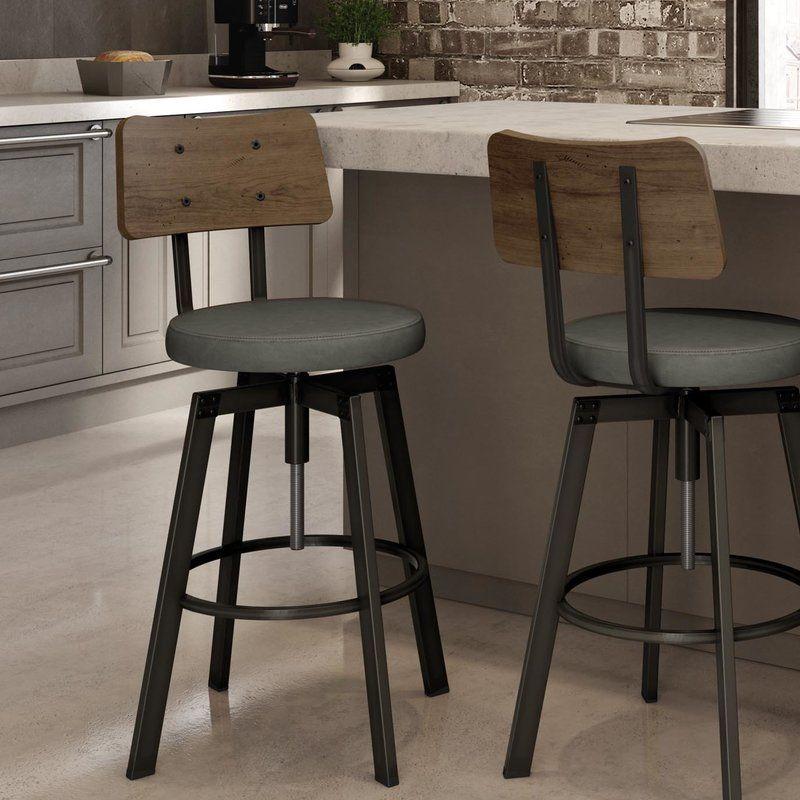 Lorri Swivel Adjustable Height Bar Stool Swivel Bar Stools Bar Stools Rustic Bar Stools Rustic swivel bar stool