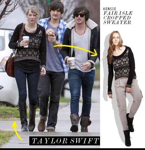 Taylor Swift in Kensie's Fair Isle Sweater | Taylor swift, Swift ...