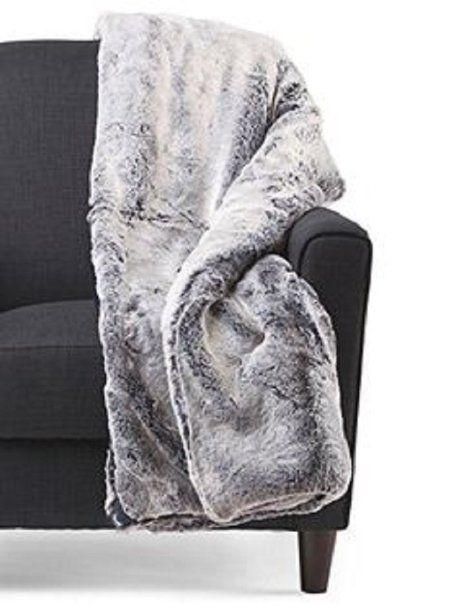 Tahari Home Faux Fur Throw Blanket 40 X 40 Gray Christmas And Amazing Tahari Throw Blanket