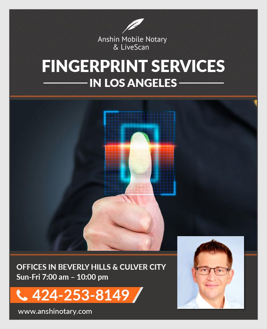Live Scan Fingerprinting Los Angeles Live scan