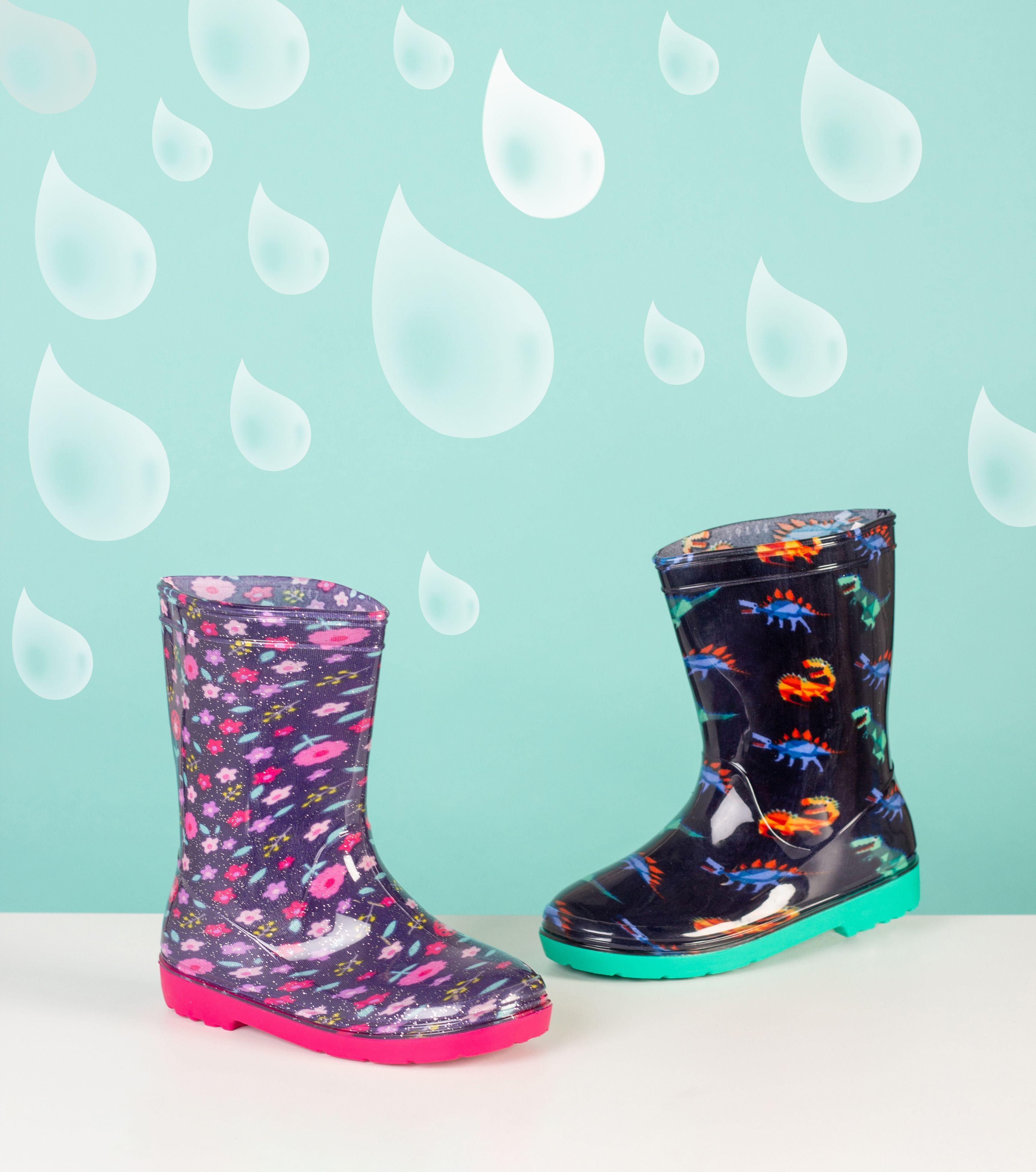 Kids Patterned Wellington Boots | Boots