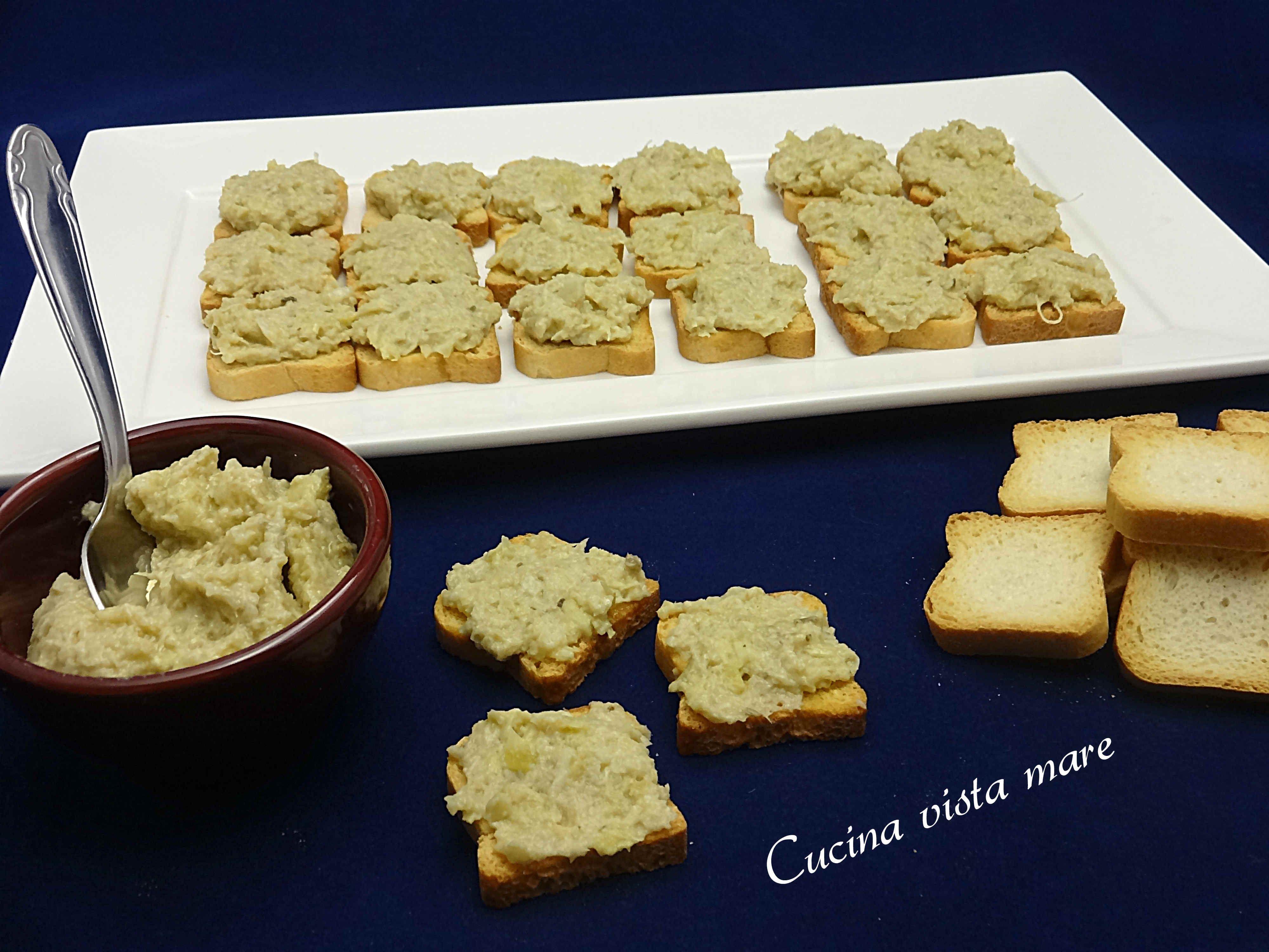 Crostini Alla Crema Di Carciofi Cucina Vista Mare Idee Alimentari Crostini Salsa Di Carciofi