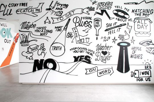 "Steve Powers - exhibition: ""Visual blues"" #SteveEspoPowers"