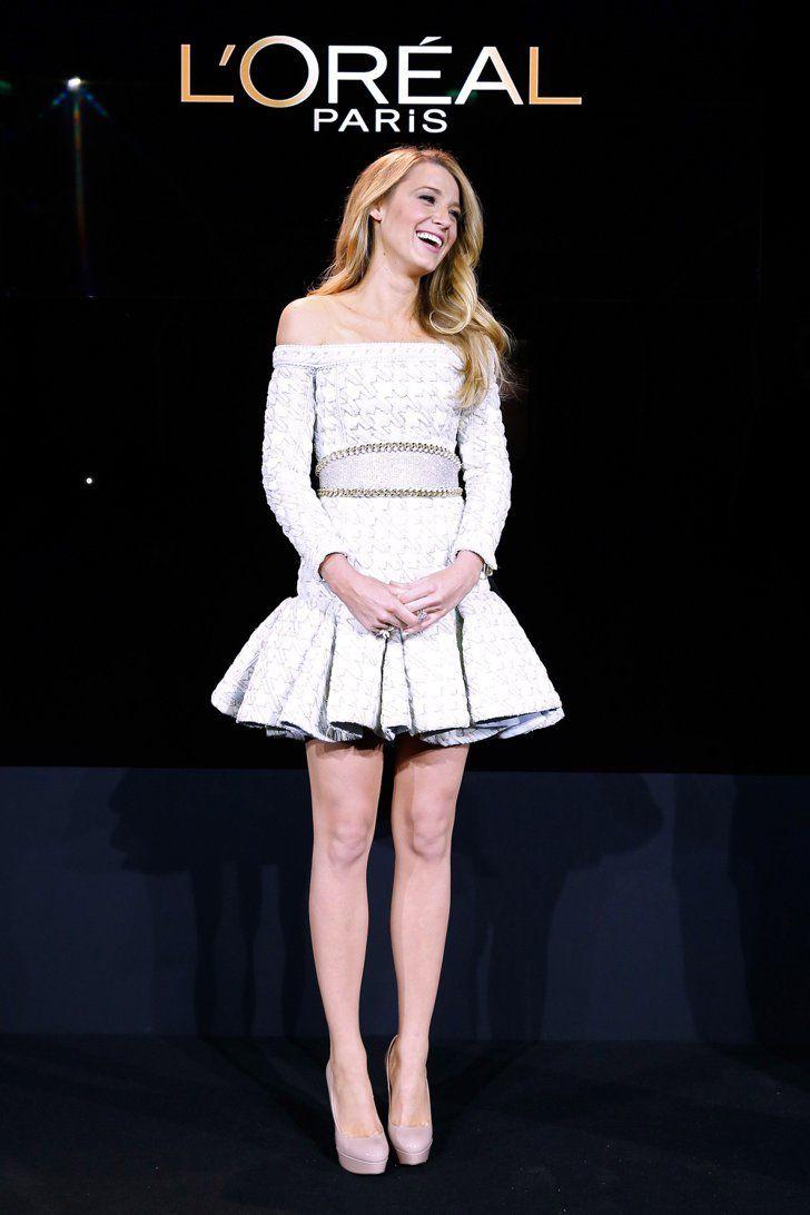 Pin for Later: 38 Momente in denen wir gerne Blake Lively gewesen wären Als sie zum Gesicht von L'Oréal ernannt wurde