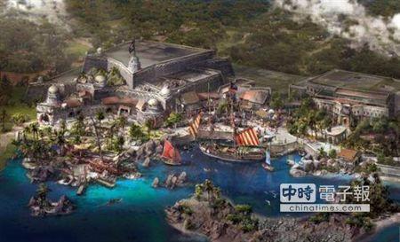 【上海迪士尼 全球首個海盜主題樂園】 上海迪士尼首個海盜主題樂園,名為寶藏灣(取自新浪網)