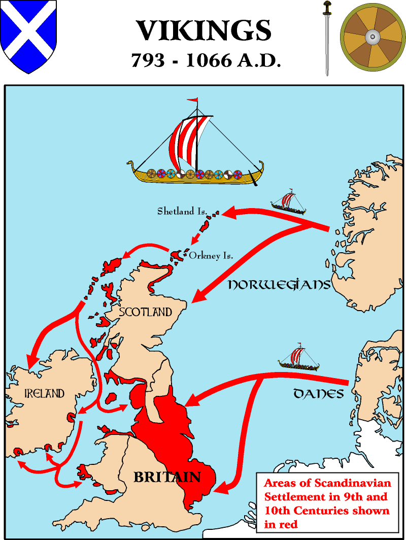 Map Of England 793 Ad.Map Viking Settlements In The British Isles So This Is Why