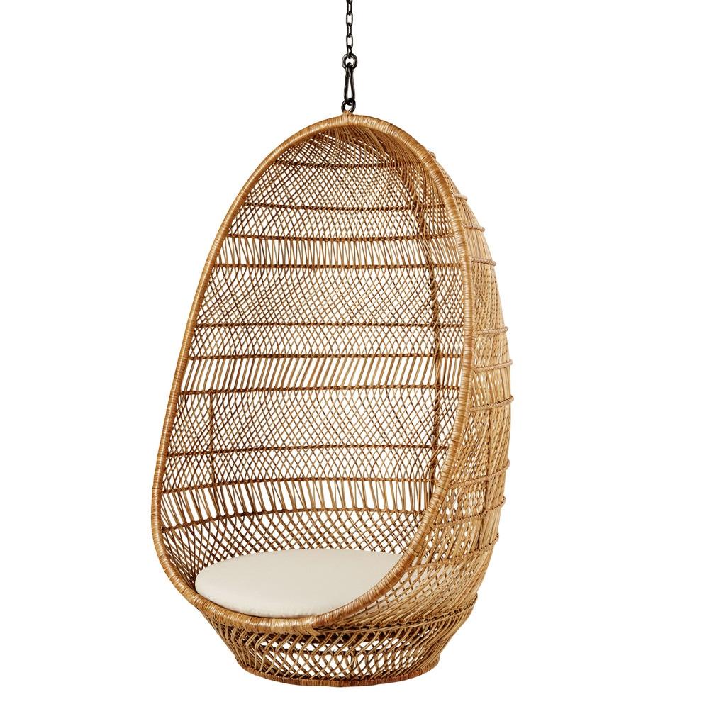 Poltrona Sospesa In Rattan.Poltrona Sospesa In Vimini Intrecciato Wicker Hanging Chair