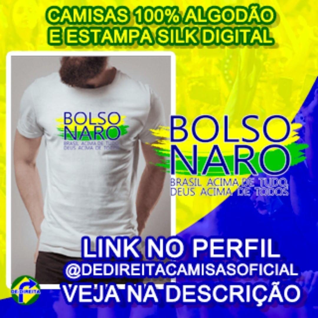 b5e9e7b7055 CONHEÇA A NOSSA LOJA DE-DIREITA. Temos camisas do Bolsonaro e outros temas  de