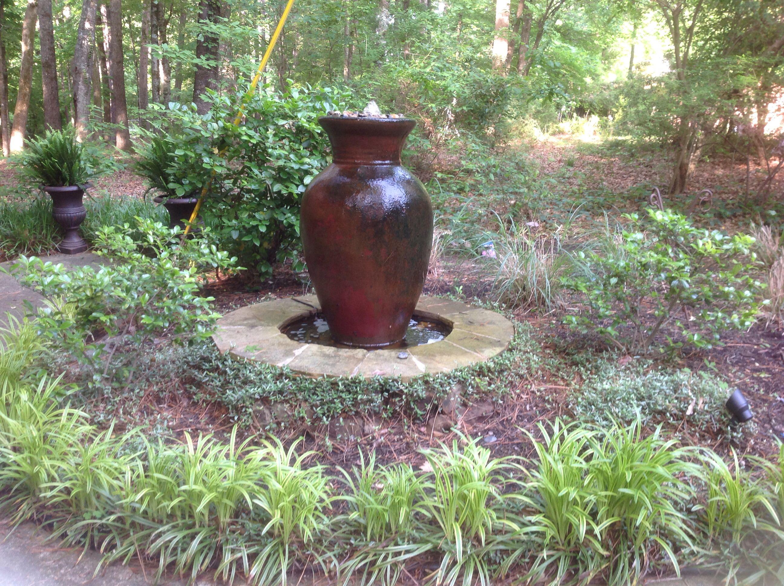 Fountain Bird bath, Plants, Garden