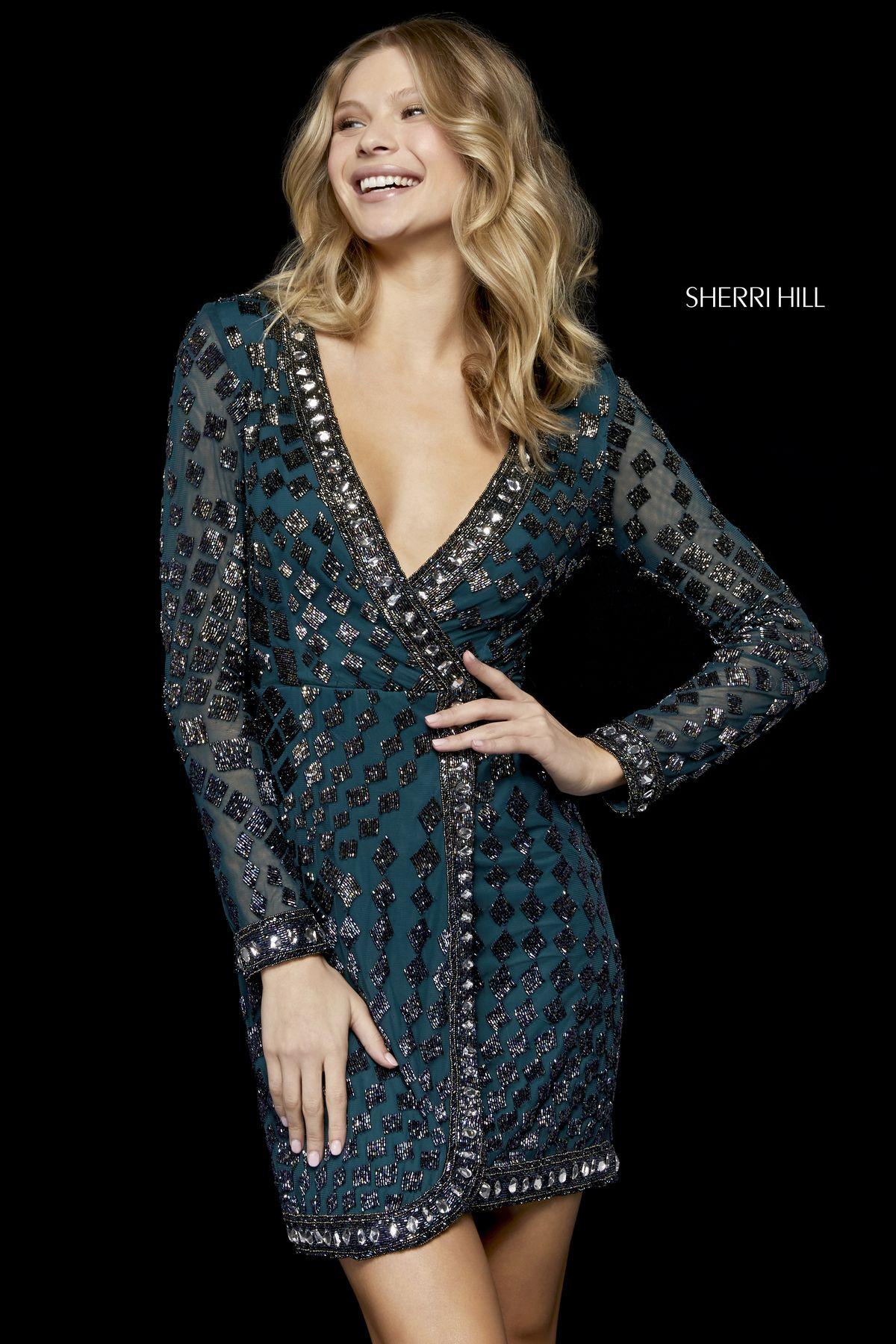 f9f5bda62c7 Style  52221 – Sherri Hill. Style  52221 – Sherri Hill Long Sleeve  Homecoming Dresses ...