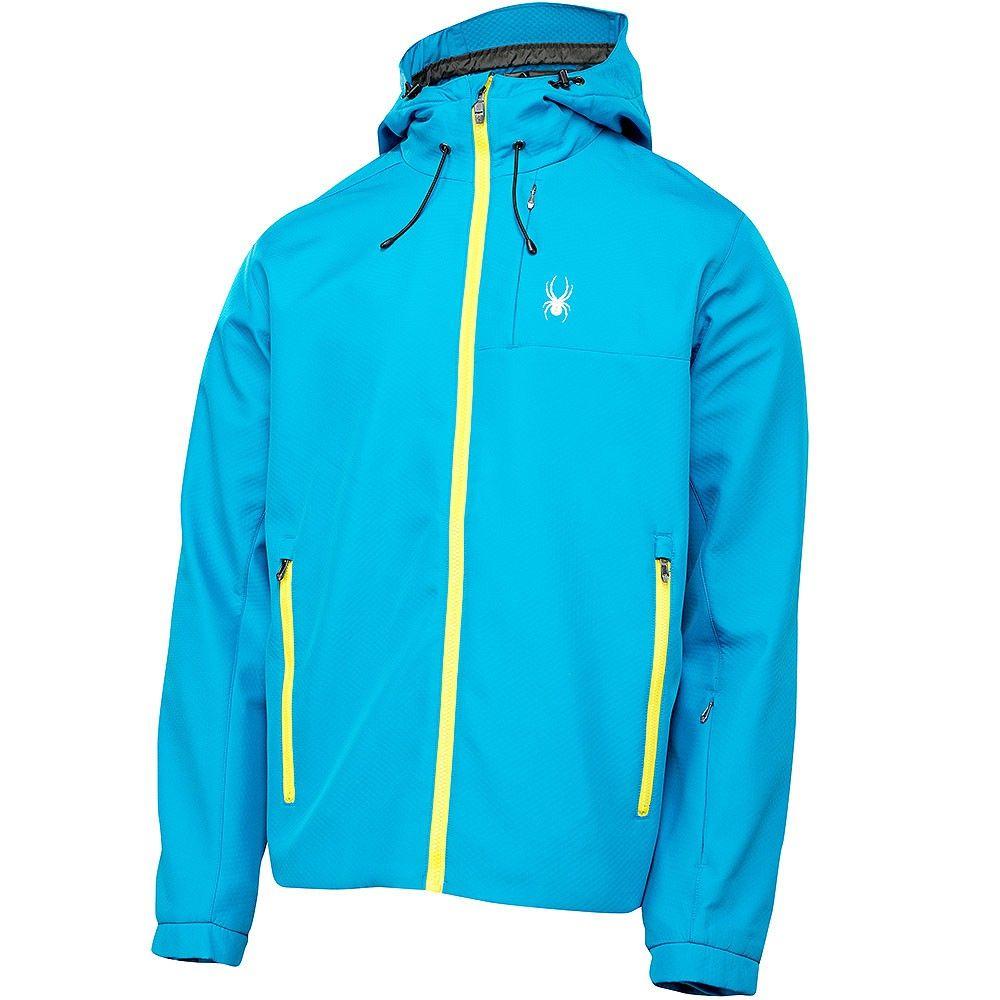 Spyder Grindel Softshell Jacket Herren Jacke blau neon #spyder #skibekleidung #outlet #sporthausmarquardt