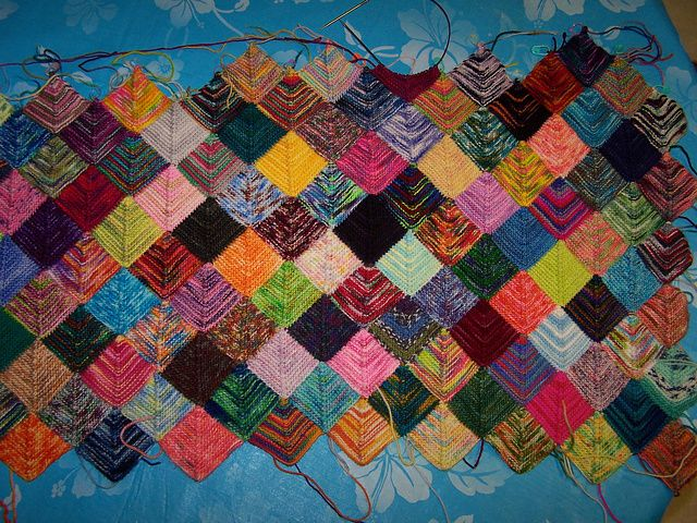 Sock Yarn Blanket pattern by Shelly Kang | Sock Yarn blanket | Pinterest