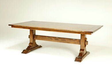 BAUSMAN U0026 CO. / 8764 TRESTLE TABLE / INLAID PLANK TOP WITH BUTTERFLY PEGS /  CROSSBAND | Top 100 Pieces | Pinterest | Trestle Tables, Dining Room Table  And ...